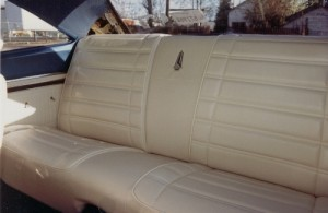 White leather rear seat