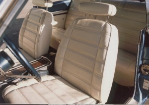 White leather bucket seats