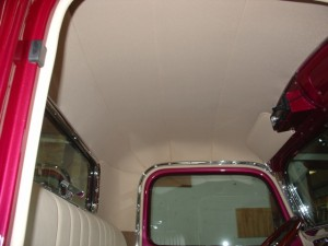 Custom leather roof lining
